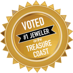 plaque voted #1 jeweler on the Treasure Coast