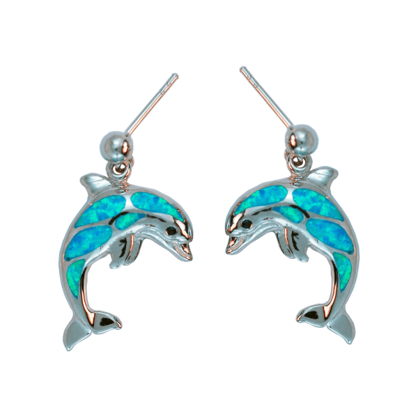 Opal Dolphin Earrings