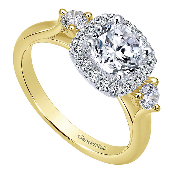 Gabriel-14k-Yellow-white-Gold-Diamond-Halo-Engagement-Ring