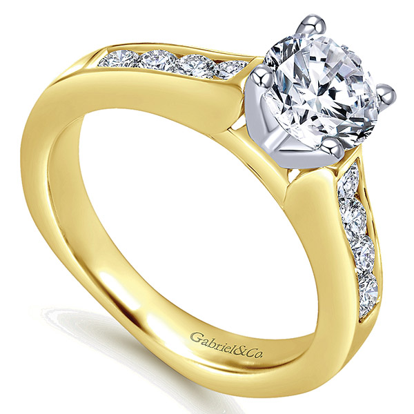 Gabriel-14k-Yellow-white-Gold-Diamond-Straight-Engagement-Ring