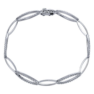 14k White Gold Contemporary Tennis