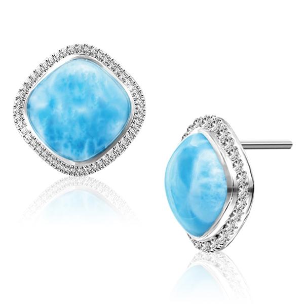 Marahlago - Clarity Cushion Earrings