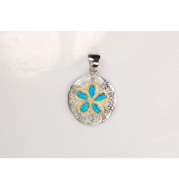 Opal Sand Dollar Pendant