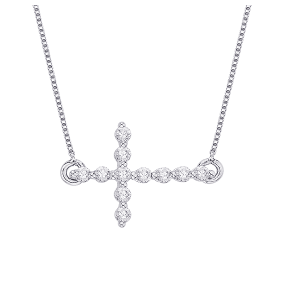 Shah - Diamond Sideways Cross - PC0060T-12W
