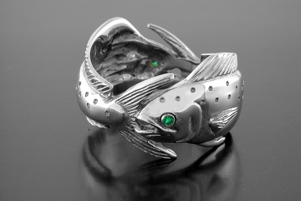 Silver Double Mahi Ring