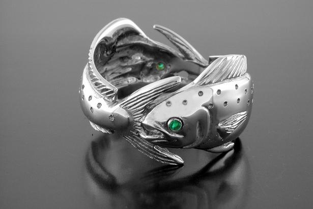 Silver Double Mahi Ring