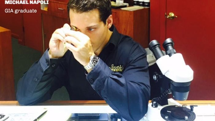 Michael Napoli repairing a watch at their Joseph's Jewelry store in Stuart, FL, watch maintenance guide