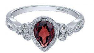 January birthstone Garnet ring