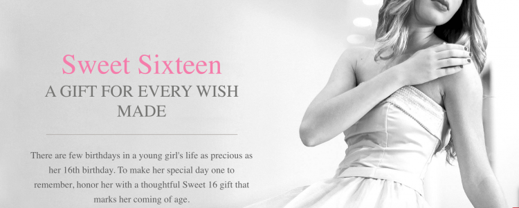 young girl celebrating her sweet 16, sweet 16 jewelry gift ideas