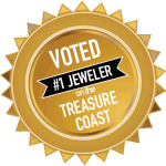 gold award for Joseph's Jewelry, voted #1 jeweler on the Treasure Coast