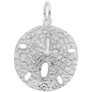 A shell full of meanings, the Large Sand Dollar Charm will add spirituality to any Classic Charm Bracelet. This jewelry piece is available in silver and gold.