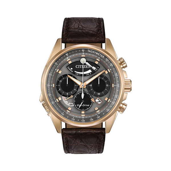 Citizen Men's Chronograph Eco-Drive Calibre 2100 watch with flyback chronograph, alarm, power reserve up to 8 months, and date.