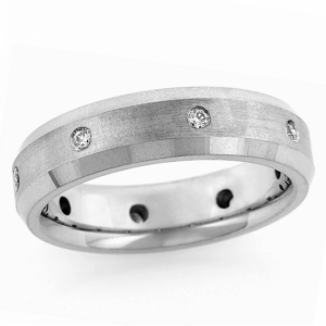 14 KT Yellow Gold Men's Wedding Band by Endless Designs shown in 6mm .24ct tw. Customization options are available.