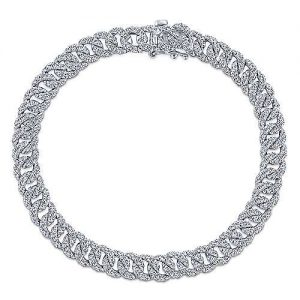 14K White Gold Diamond Link Tennis Bracelet - designed by Jewelry Designers Gabriel & Co., New York. Passion, Love & You.