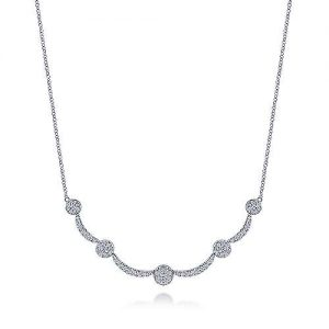 14K White Gold Diamond Necklace - designed by jewelry designer Gabriel & Co., New York. Passion, Love & You.