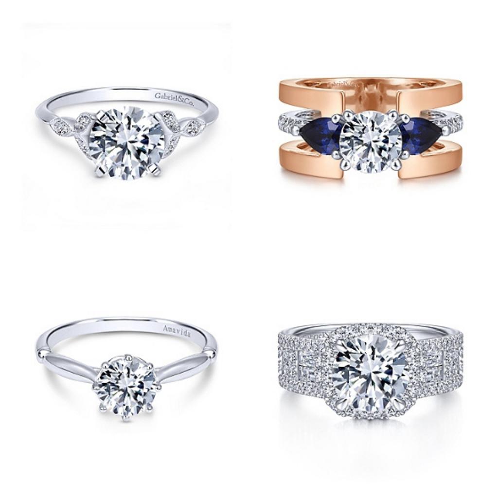 variety of classic diamond engagement rings