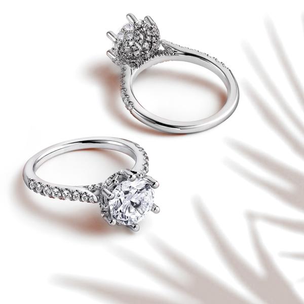 Gabriel & Co. solitaire engagement rings