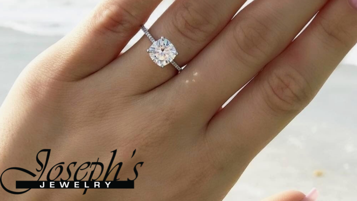 hand with engagement ring, What Hand Does the Engagement Ring Go On | Joseph's Jewelry