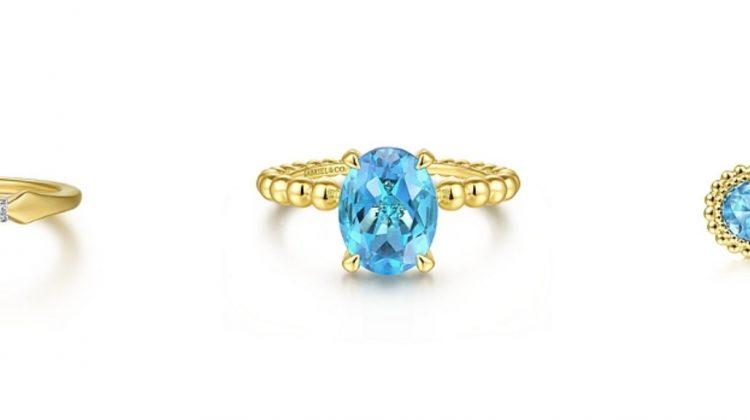 December birthstone Blue Topaz jewelry, blue topaz rings, blue topaz earrings