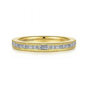 14K Yellow Gold Diamond Anniversary Band - 0.36 ct - designed by Jewelry Designers Gabriel & Co., New York. Passion, Love & You.