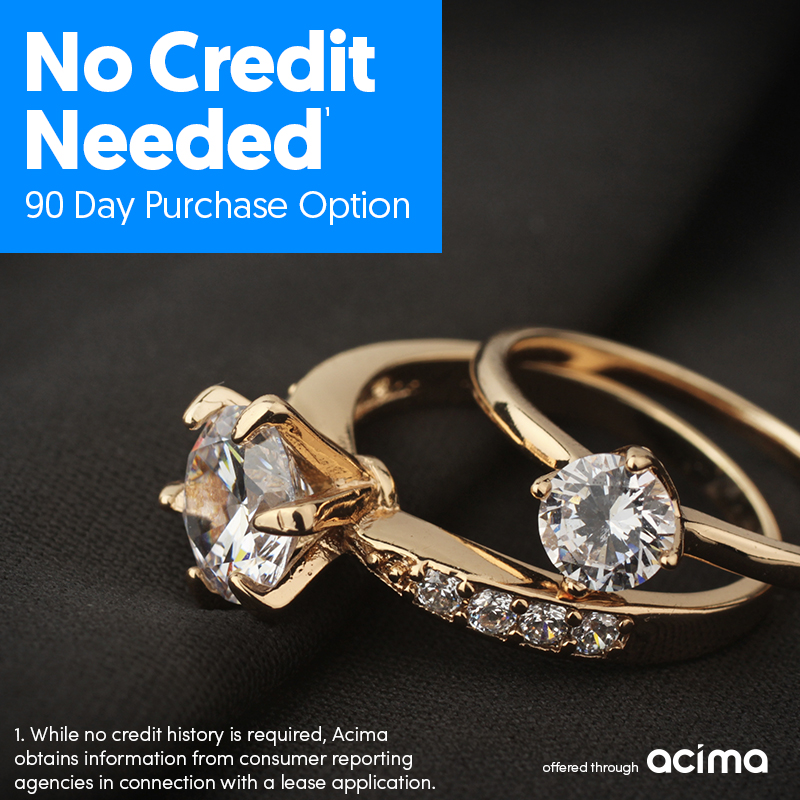 jewelry leasing offered by acima, no credit needed, 90 day purchase option
